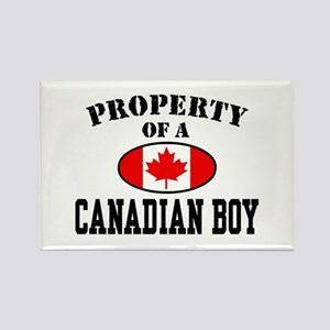 Property of a Canadian Boy Rectangle Magnet
