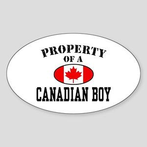 Property of a Canadian Boy Oval Sticker