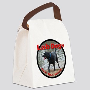 Lab Dogs Patch Logo Canvas Lunch Bag
