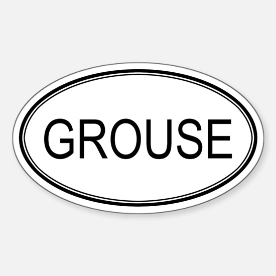 Oval Design: GROUSE Oval Decal