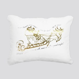 Twas the night before Ch Rectangular Canvas Pillow