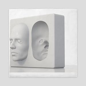 Hollow-face illusion,artwork Queen Duvet