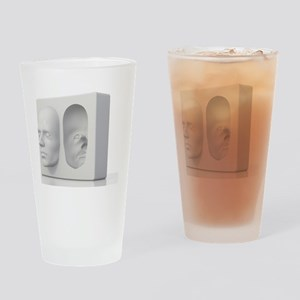 Hollow-face illusion,artwork Drinking Glass