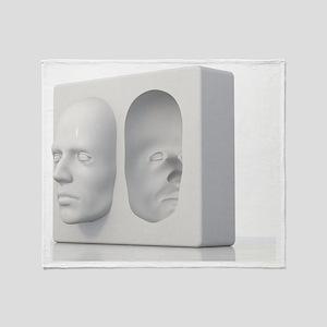 Hollow-face illusion,artwork Throw Blanket