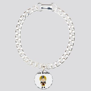 Little Brother Football Charm Bracelet, One Charm