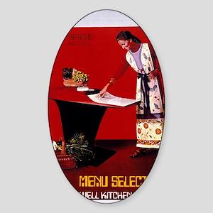 Honeywell Kitchen Computer Sticker (Oval)