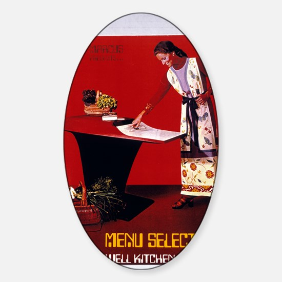 Honeywell Kitchen Computer Sticker (Oval)