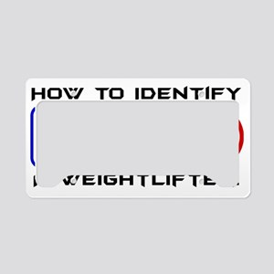 Identify a Weightlifter License Plate Holder