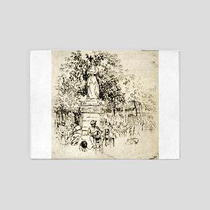 Luxembourg gardens - Joseph Pennell - 1893 5'x7'Ar