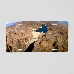 Hoover hydroelectric dam, C Aluminum License Plate
