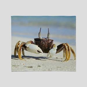 Horned ghost crab Throw Blanket
