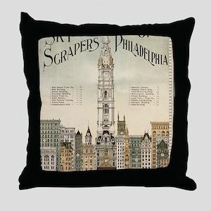 Skyscrapers Of Philadelphia Throw Pillow