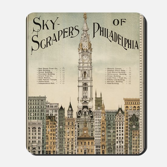 Skyscrapers Of Philadelphia Mousepad