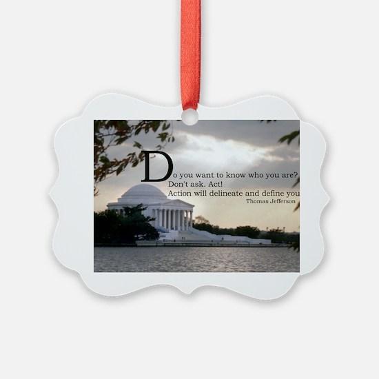 Thomas Jefferson wisdom Ornament