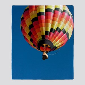 Hot air balloon Throw Blanket