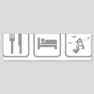 EatSleepSkydive1C Sticker (Bumper)