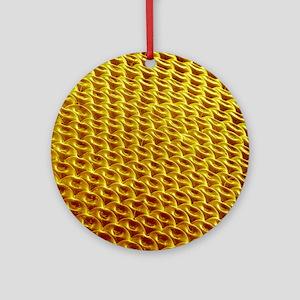 Hover fly compound eye, SEM Round Ornament