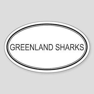Oval Design: GREENLAND SHARKS Oval Sticker