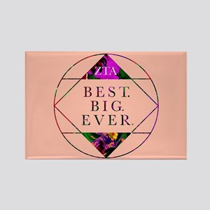 Zeta Tau Alpha Best Big Ever Rectangle Magnet