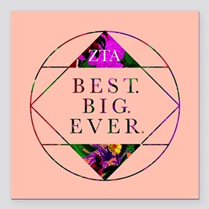 "Zeta Tau Alpha Best Big Square Car Magnet 3"" x 3"""