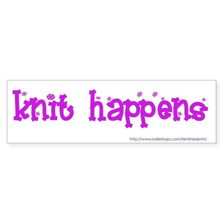 Knit Happens Bumper Sticker