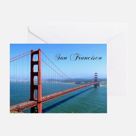SF_10X8_GoldenGateBridge Greeting Card
