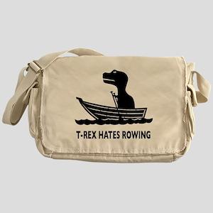 t-rex hates rowing Messenger Bag