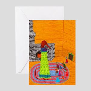 Baba Yaga Greeting Card