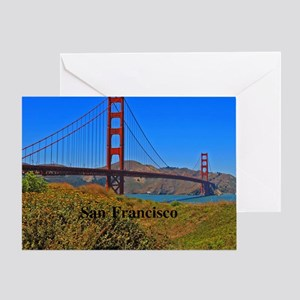 SF_4.25x5.5_NoteCard_GoldenGateBridg Greeting Card