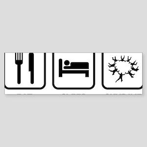 EatSleepSkydive2A Sticker (Bumper)
