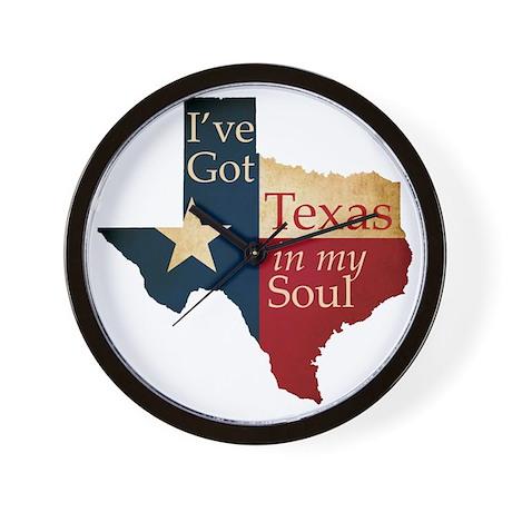 Ive Got Texas in my Soul Wall Clock