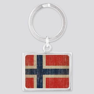 Vintage Norway Flag Landscape Keychain
