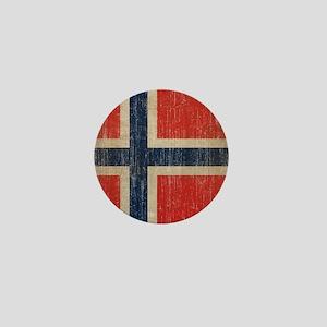 Vintage Norway Flag Mini Button