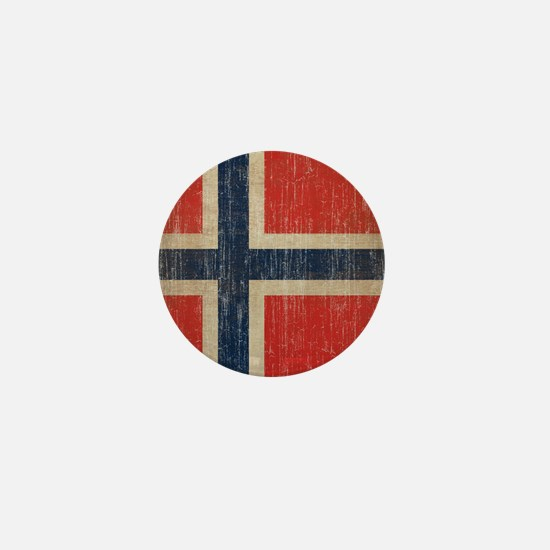 Vintage Norway Flag Mini Button