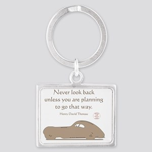NEVER LOOK BACK Landscape Keychain
