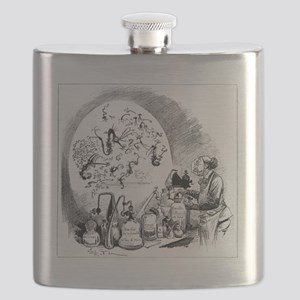 Microbiology caricature, 19th century Flask