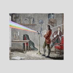 Newton's optics Throw Blanket