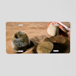 Olduwan stone tools Aluminum License Plate