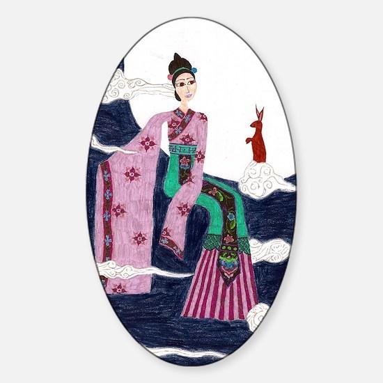 Chang E Sticker (Oval)