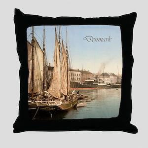 Vintage Denmark Throw Pillow