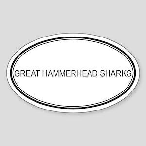 Oval Design: GREAT HAMMERHEAD Oval Sticker