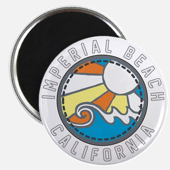 Imperial Beach Wave Badge Magnet