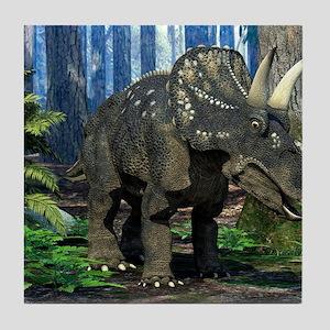 Nedoceratops dinosaur, artwork Tile Coaster