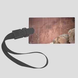 Native American Petroglyphs, Uta Large Luggage Tag