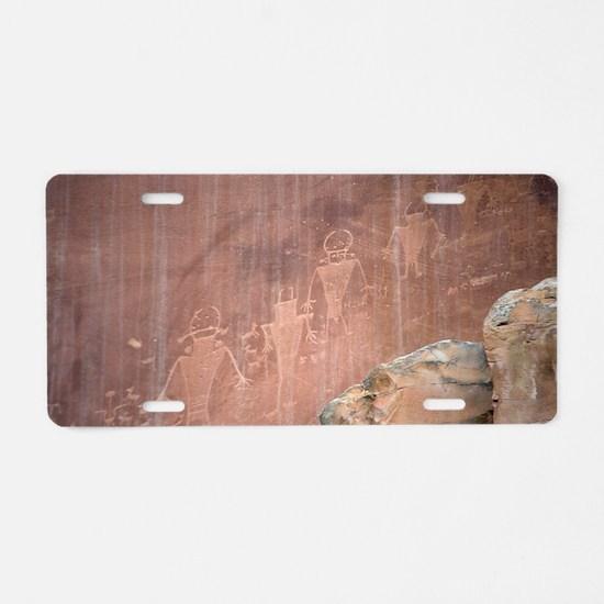 Native American Petroglyphs Aluminum License Plate