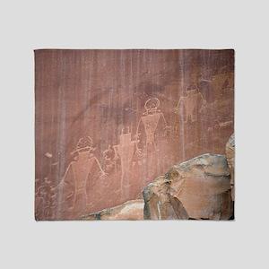Native American Petroglyphs, Utah Throw Blanket
