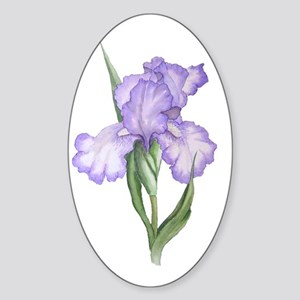 The Purple Iris Sticker (Oval)