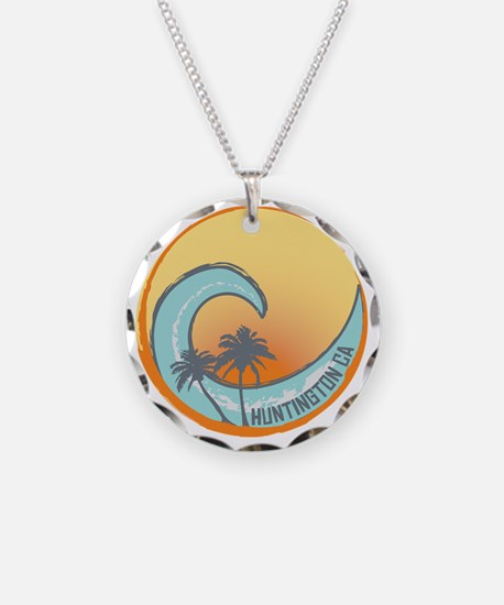 Huntington Beach Sunset Cres Necklace