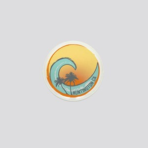 Huntington Beach Sunset Crest Mini Button