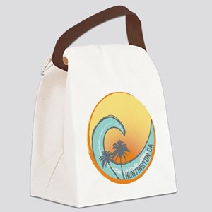 Huntington Beach Sunset Crest Canvas Lunch Bag